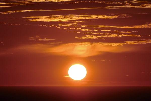 越前海岸夕日